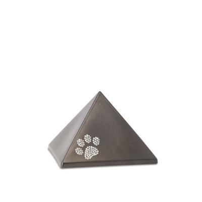 Urne Crystal Pyramide Chocolat motif Patte