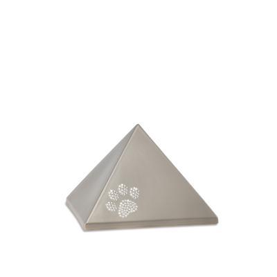 Urne Crystal Pyramide Gris Olive motif Patte