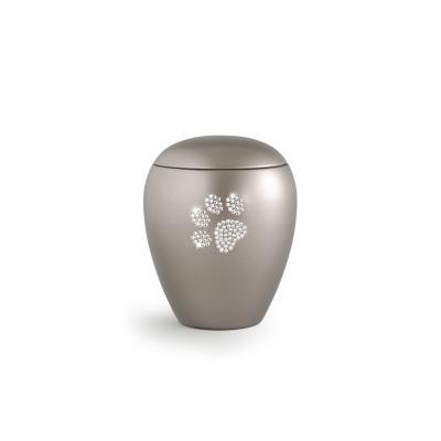 Urne Crystal Ovale Gris Olive motif Patte