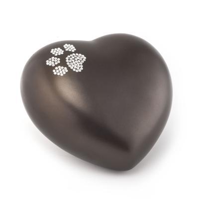 Urne Crystal Coeur Chocolat motif Patte