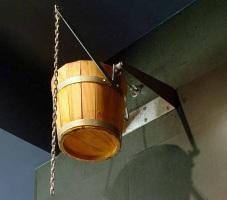 Ducha Cubo en Madera