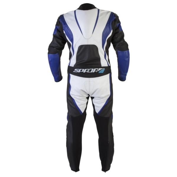Spada Curve 1P/C Leather Suit Black/Blue/White