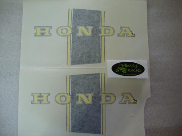 Honda Dax Bauchbinden Set schwarz/gelb (guter Repro) 19,50 EUR