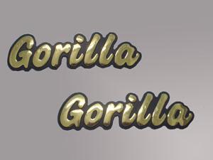 Tankemblem Gorilla gold  9,50 EUR