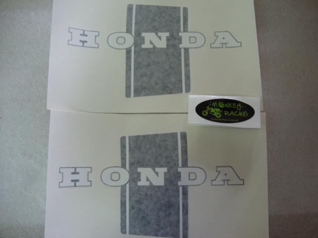 Honda Dax Bauchbinden Set schwarz/weiß (guter Repro) 19,50 EUR