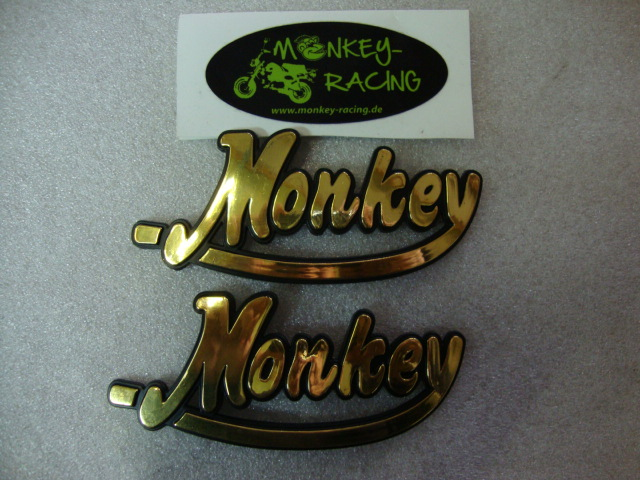 Tank Emblem Set Monkey gold  9,50 EUR