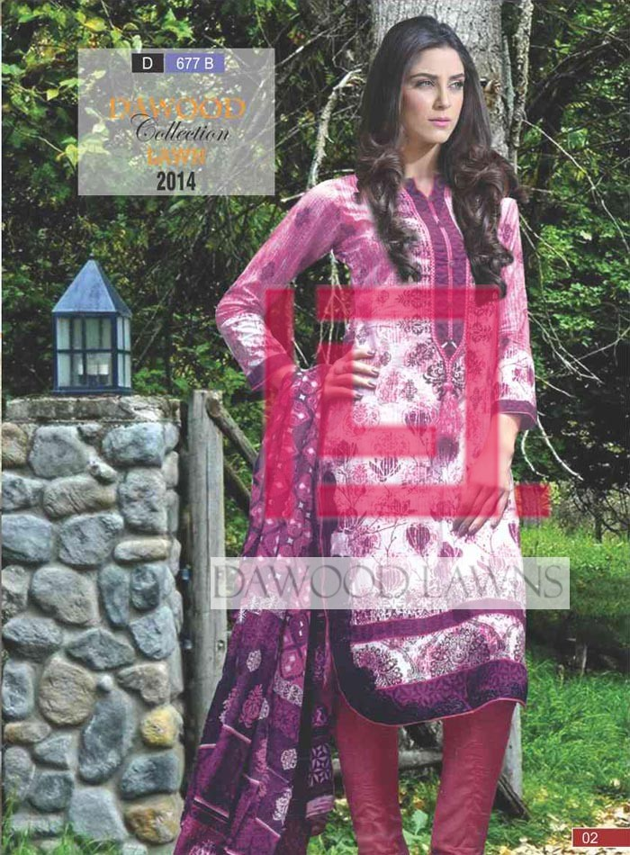 Stitched Collection Lawn 677-B