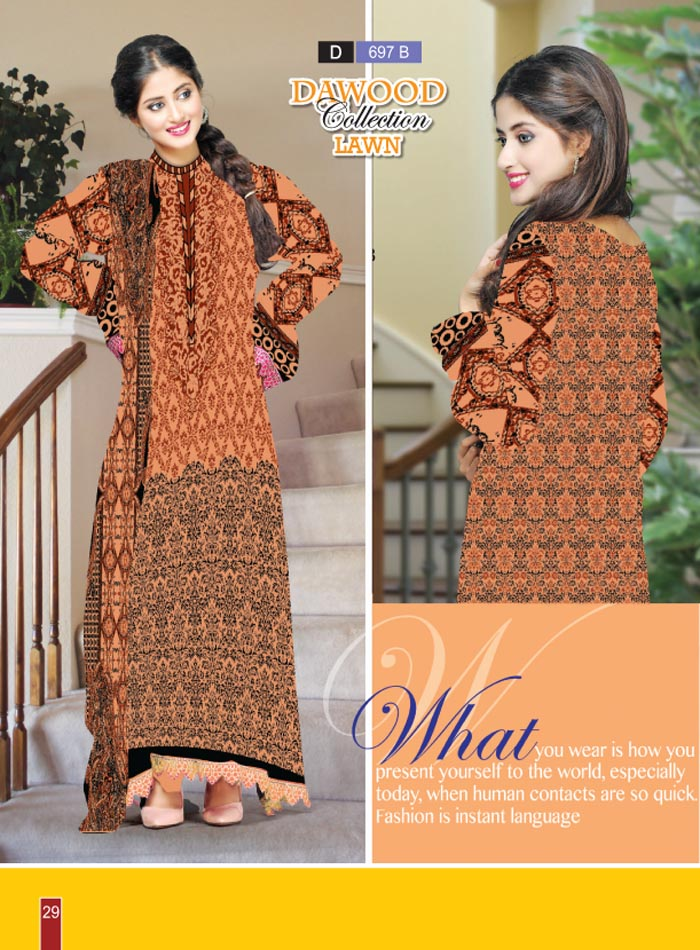 Stitched Collection Lawn 697-B