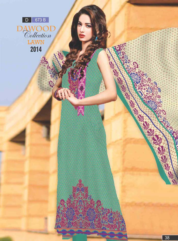 Stitched Collection Lawn 673-B