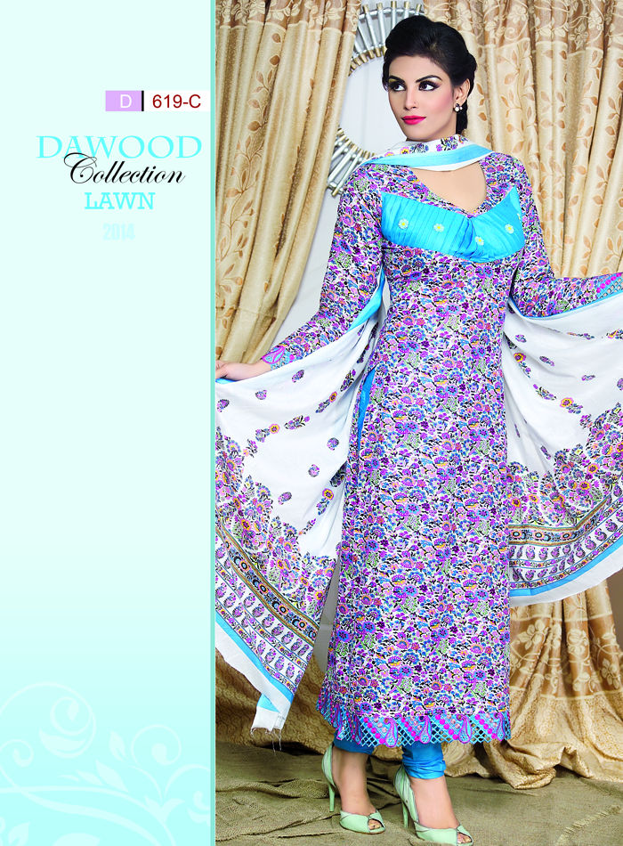 Stitched Collection Lawn 619-C