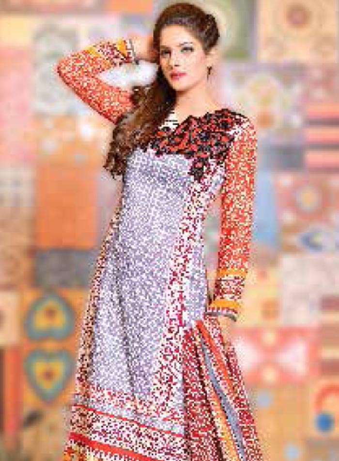 Ayesha Samia 533-B (Orange)