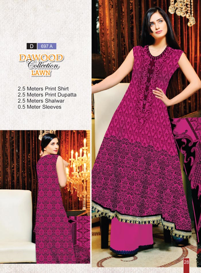 Stitched Collection Lawn 697-A