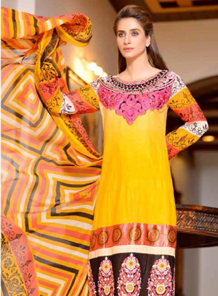 Ayesha Samia 526-B (Yellow/Black Border))
