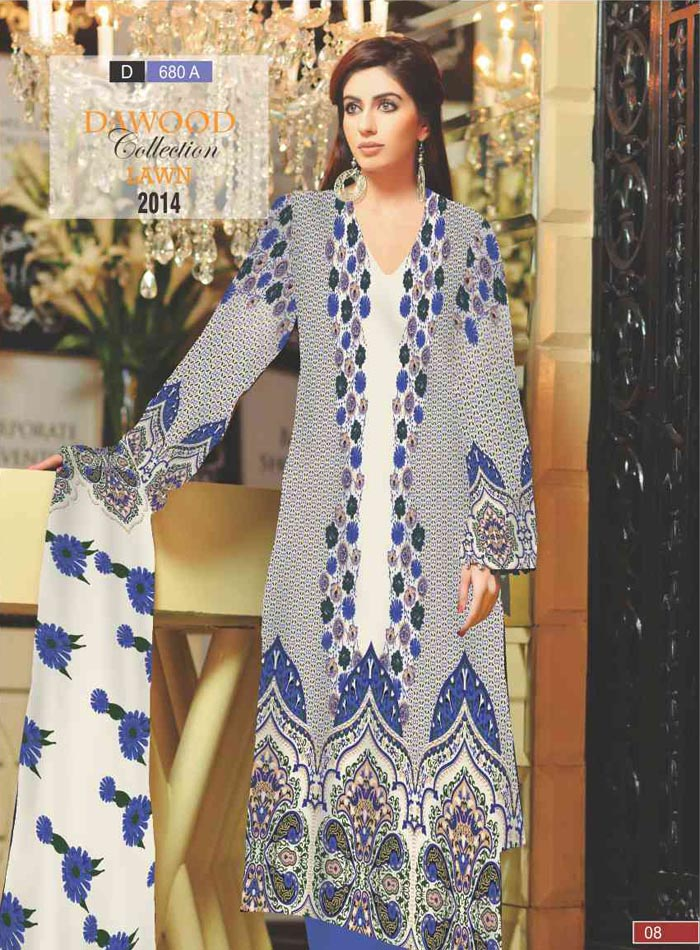 Stitched Collection Lawn 680-A