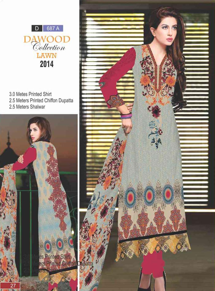 Dawood Collection Lawn 687-A