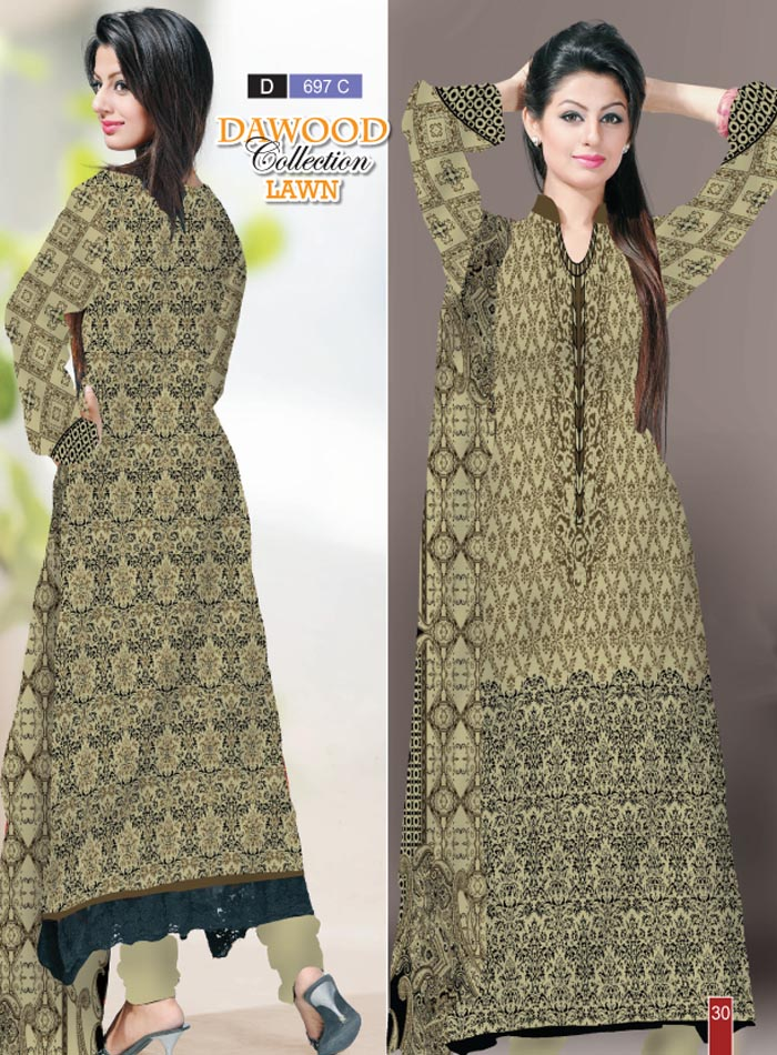 Stitched Collection Lawn 697-C