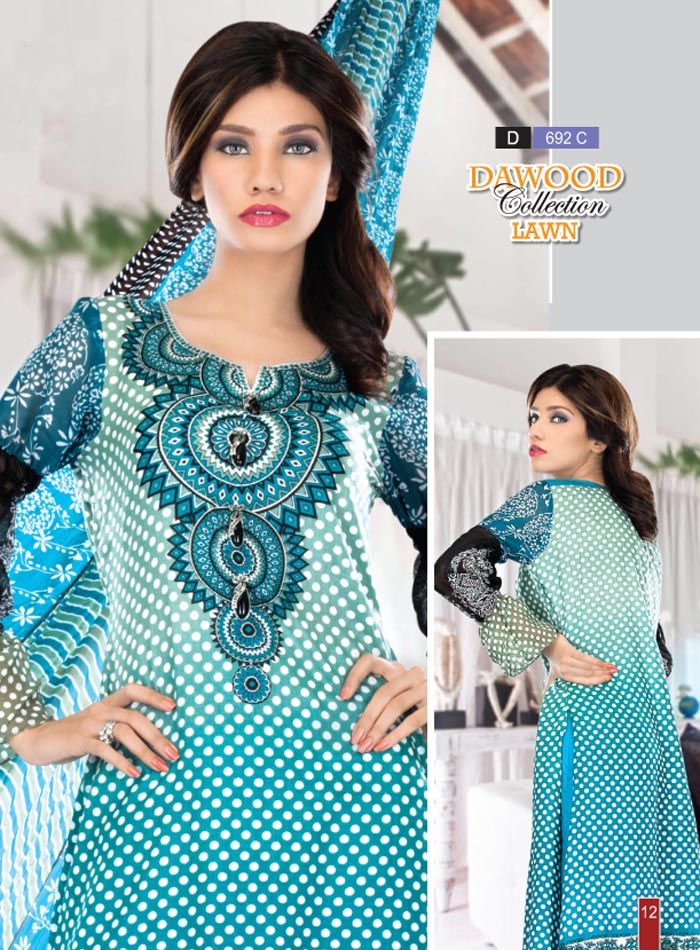 Stitched Collection Lawn 692-C