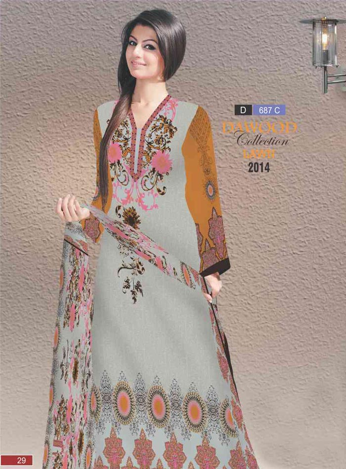 Stitched Collection Lawn 687-C