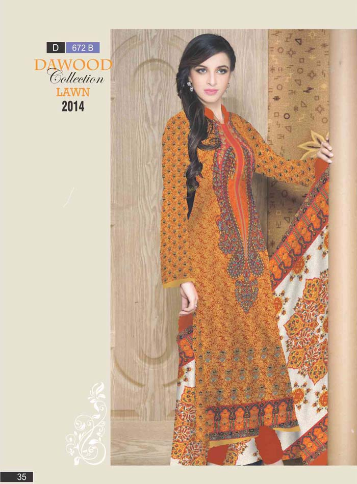 Stitched Collection Lawn 672-B